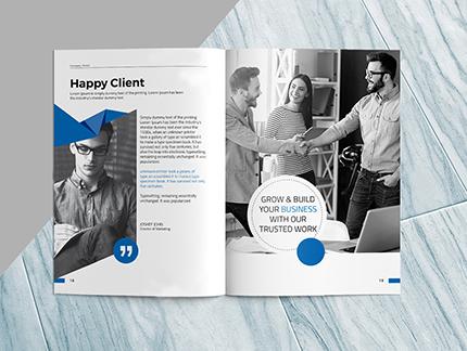 company profile design content